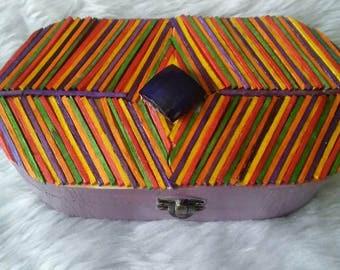 Rainbow Decorated Jewellery Box