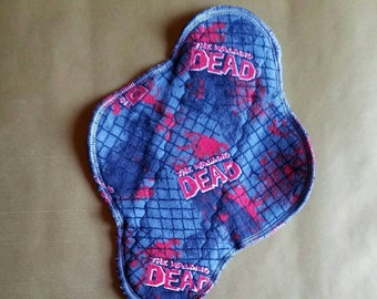 """8"""" Flannel Topped Cloth Panty Liner With Wings"""