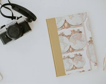"""TRAVEL BOOK A5 / My Adventure Book  17,5 x 24,5 cm / Bronw  Travel Journals 6 x 9"""" / Travel Notebook / Holiday Travel Book"""