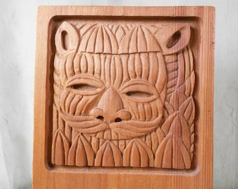 Carved Redwood Lion / Viking by Evelyn Ackerman - ERA Industries