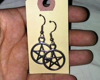Pentacle earrings set customizable