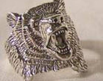 Bear Ring  Size 7 thru 14