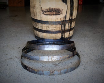 "Barrel Hoop / Ring / Band From a Used Jack Daniels Whiskey Barrel. Choice of sizes, 22"", 23"", and 25"""