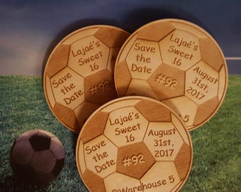 25 Soccer Ball Party Favors, Birthday Save the Date