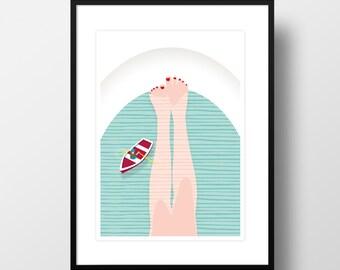 """Artprint """"Bathtub"""""""