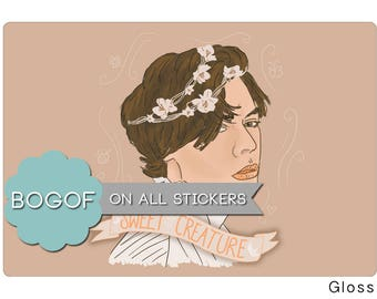 Sweet Creature Sticker One Direction Harry Styles Stationery Art Illustration Drawing Banner Portrait