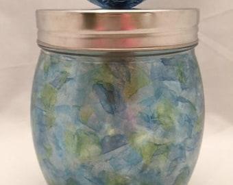 Painted Glass Jars