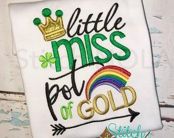 Little Miss Pot of Gold Shirt or Bodysuit