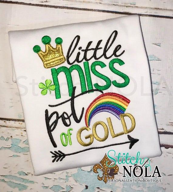 SHIPS FAST!!  Little Miss Pot of Gold Shirt or Bodysuit