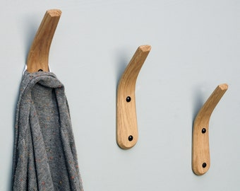 ENGLISH OAK Coat Hook - Steam bent curve