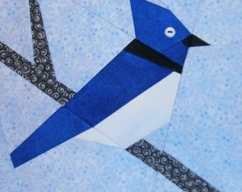 Blue Jay Paper Pieced Block Pattern in PDF