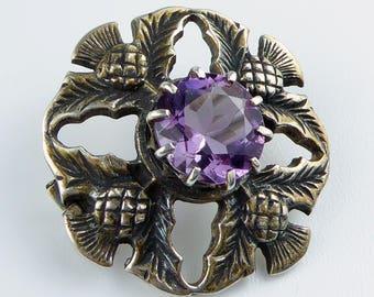 Scottish Silver brooch with thistle design - Edinburgh 1971 John Hart