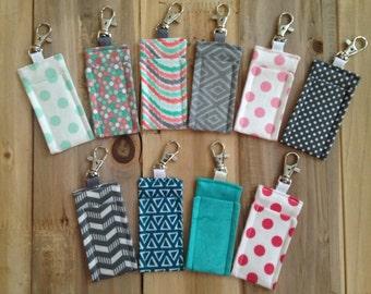 My favorite collection set chapstick holder - chapstick keychain - lip balm key chain