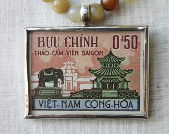 Viet-Nam postage stamp Necklace