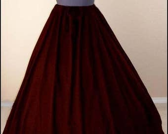 Free Shipping RENAISSANCE SKIRT Medieval Clothing Civil War Pirate Wench Halloween Costume Skirt