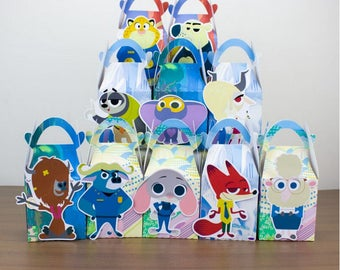 Zootopia Favor Box Candy Box Gift Box Cupcake Box Boy Kids Birthday Party Supplies Decoration Event Party Supplies