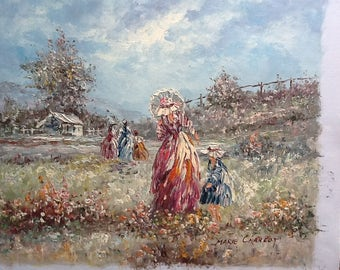 Pretty painting , country Gardner .