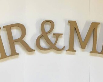 Mr and Mr Wooden Letters Wedding Table