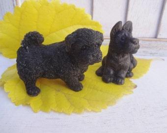 Set of 2 Black Dog soap with shungite healing detox bath homemade soap home bath decor soap gift
