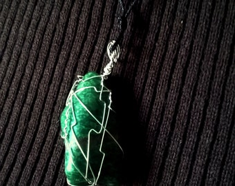 Wire Wrapped Amazonite pendant