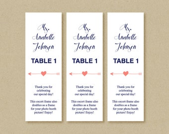 Arrow place cards etsy for Photo booth frame inserts template
