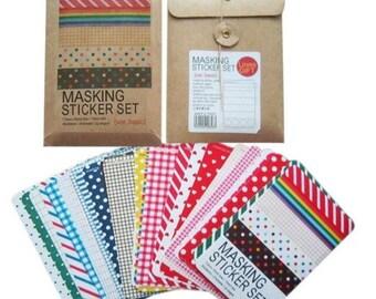 Washi tape, 27 sticker sheets