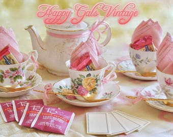 tea party set for four adult tea party set vintage tea party set