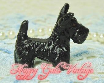Scotty Dog Figurine / Metal Scottish Terrier Figurine / Small Black Scotty Dog Figurine / Tiny Dog Figurine / Metal Scotty Dog Figurine
