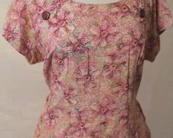 Plus size vintage pink day dress - Volup