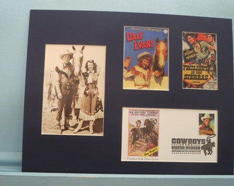 Western Movie and TV Stars - Roy Rogers, Dale Evans and Trigger  and  First Day  Cover of the Roy Rogers stamp