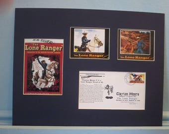 Western Movie and TV Star - The Lone Ranger with Tonto and Silver and Commemorative Cover