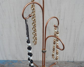 Unique Adjustable Vintage Copper Jewelry Stand!
