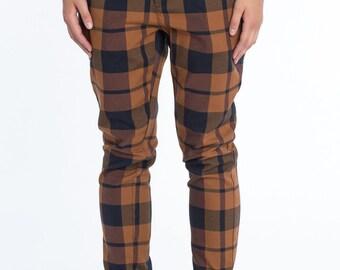 Sale! Women Pants - Checker Pants - Tartan Trousers - Wide Leg Pants - TARA-SS17-1