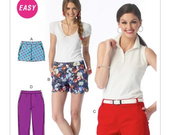 McCall's Sewing Pattern M6930 Misses' Flat-Front Shorts and Pants