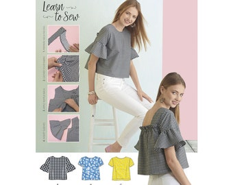 Simplicity Sewing Pattern 8335 Misses' Top with Back Interest