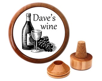 Personalized Wine Stoppers. Personalized Wine bottle stopper. Wine cork stopper. Wine lover gift.