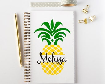 Personalized Notebook, Pineapple Spiral Notebook, Writing Journal (NB5)