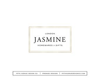 "Pre Made Logo Design - Boutique Logo - Small Business Logo - ""Jasmine"""