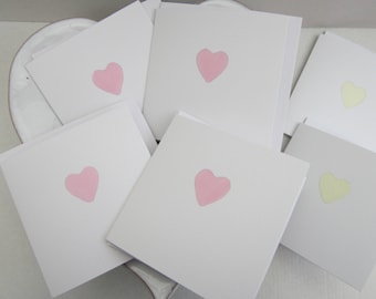 Set of cards, hand painted cards, heart cards, thank you cards, hen party, wedding thank you, birthday card, personalise, thank you baby