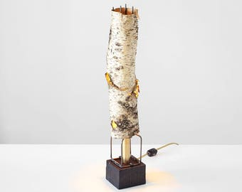 birch lamp, handmade lamp, accent lamp, rustic lamp, maker lamp, birch bark lamp, handmade birch bark lamp, accent lamp, lamp,