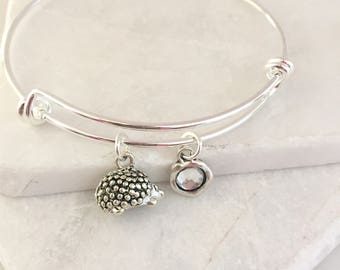 Hedgehog Bracelet, Hedgehog Jewelry, Hedgehog Gifts, Hedgehog Lovers, Hedgehog Charm Bracelet, Hedgie Bracelet, Hedgehog Rescue