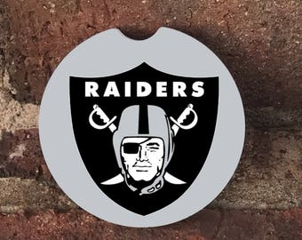 Custom Oakland Raiders Absorbent Stone car coasters (set of 2) Absorbent Sandstone Personalized Car Coasters (set of 2) Gift Ideas
