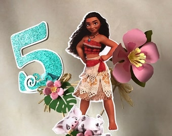 Moana Centerpiece Cake Topper, Moana Party, Moana Birthday, Moana Table Decor, Moana Decorations 3D.