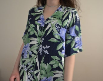 XL Floral Button-Up
