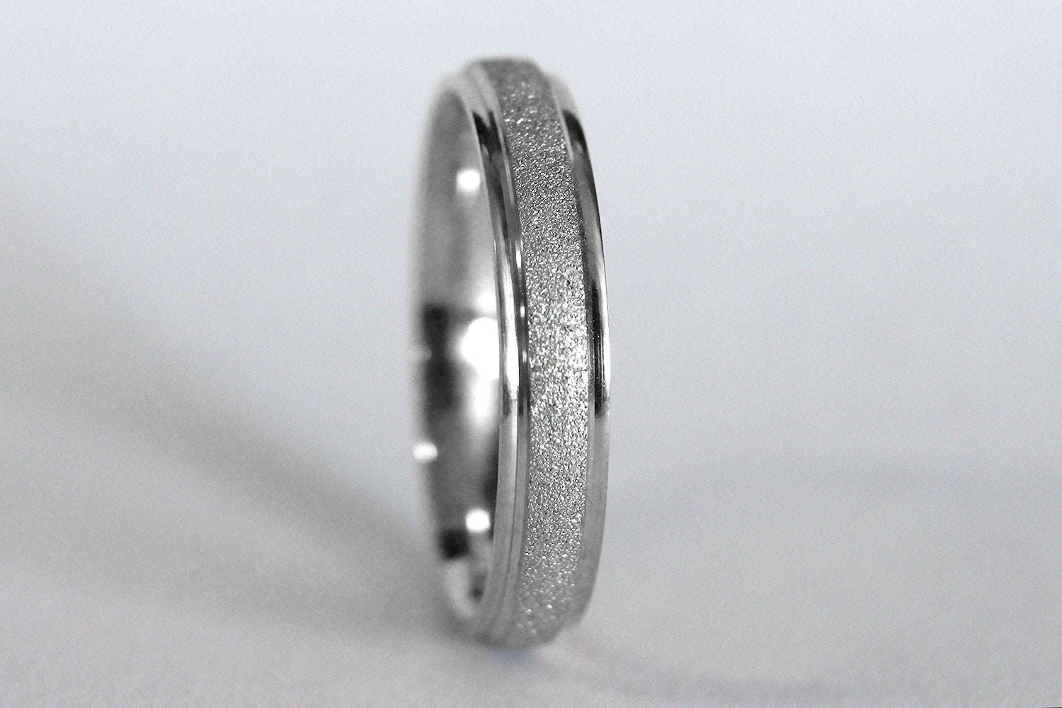 band silver diamond wedding bands rings mens thin sterling