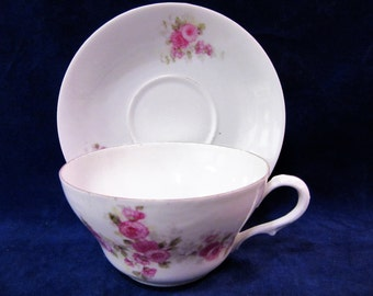 Teacup Tea Cups and Saucer Austrian Bone China Porcelain Vintage BLM