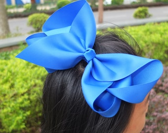 2-40 pcs 8 inch +++Extra Large hair bows  Big hair bow 40 Colors Available You Pick Colors Baby/Girls bows Boutique Hair Bow Hairpins