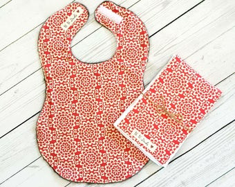Full Coverage Baby Bib/ Burp Cloth- Amy Butler- Wallflower