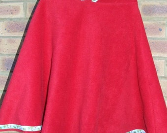 SALE** Pixitots Red Riding Hood poncho in red fleece