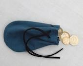 Leather pouch drawstring.  Medicine pouch money dice bag mens key pouch medieval pouch LARP reenactment gift bag gem pouch.